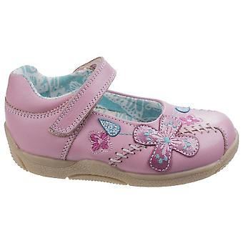Hush Puppies Childrens/Girls Millie Touch Fastening Leather Shoes