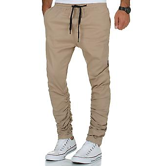 L.A.B 1928 men's Chino Jogger pants beige