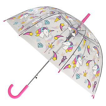 X-brella Womens/Ladies Rainbow Unicorn Automatic Dome Umbrella