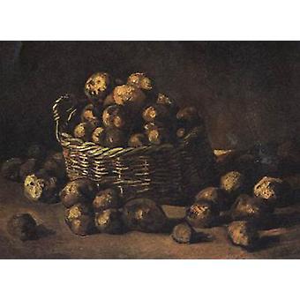 Nature morte avec un panier de pommes de terre, Vincent Van Gogh, 50x40cm