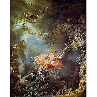 The Swing,Jean Honore Fragonard,81x65cm
