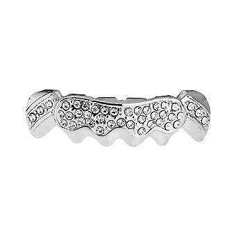 One Size Fits All Bling Grillz - SHINING BOTTOM - Silber
