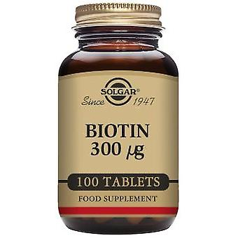 Solgar Biotin 300 mcg 100 Tablets (Vitamins & supplements , Multinutrients)