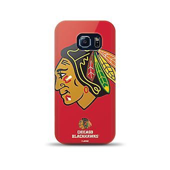 Mizco Sports NHL Oversized Snapback TPU Case for Samsung Galaxy S6 Edge (Chicago