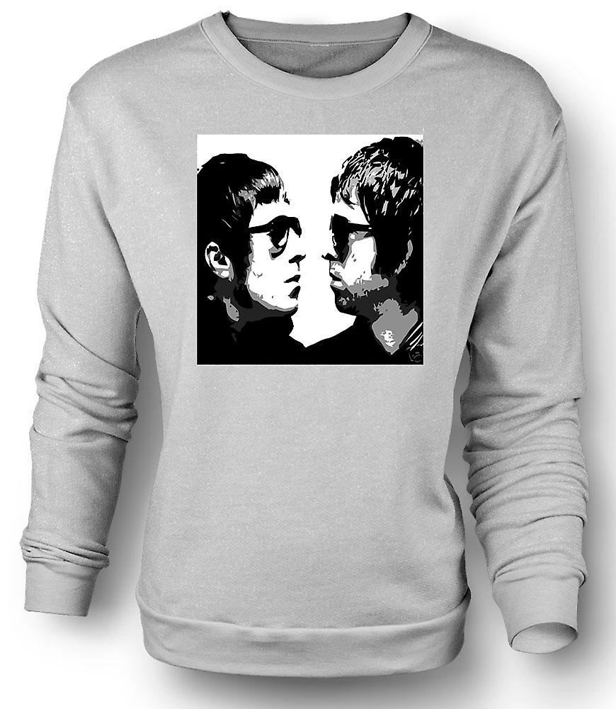 Mens Sweatshirt Liam och Noel - Oasis