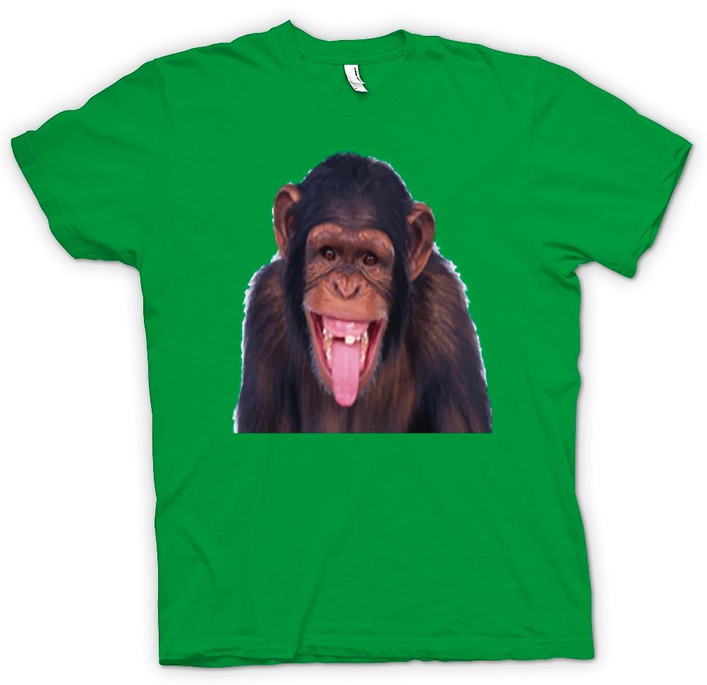 Mens T-shirt-frech Chimp lustiges Gesicht