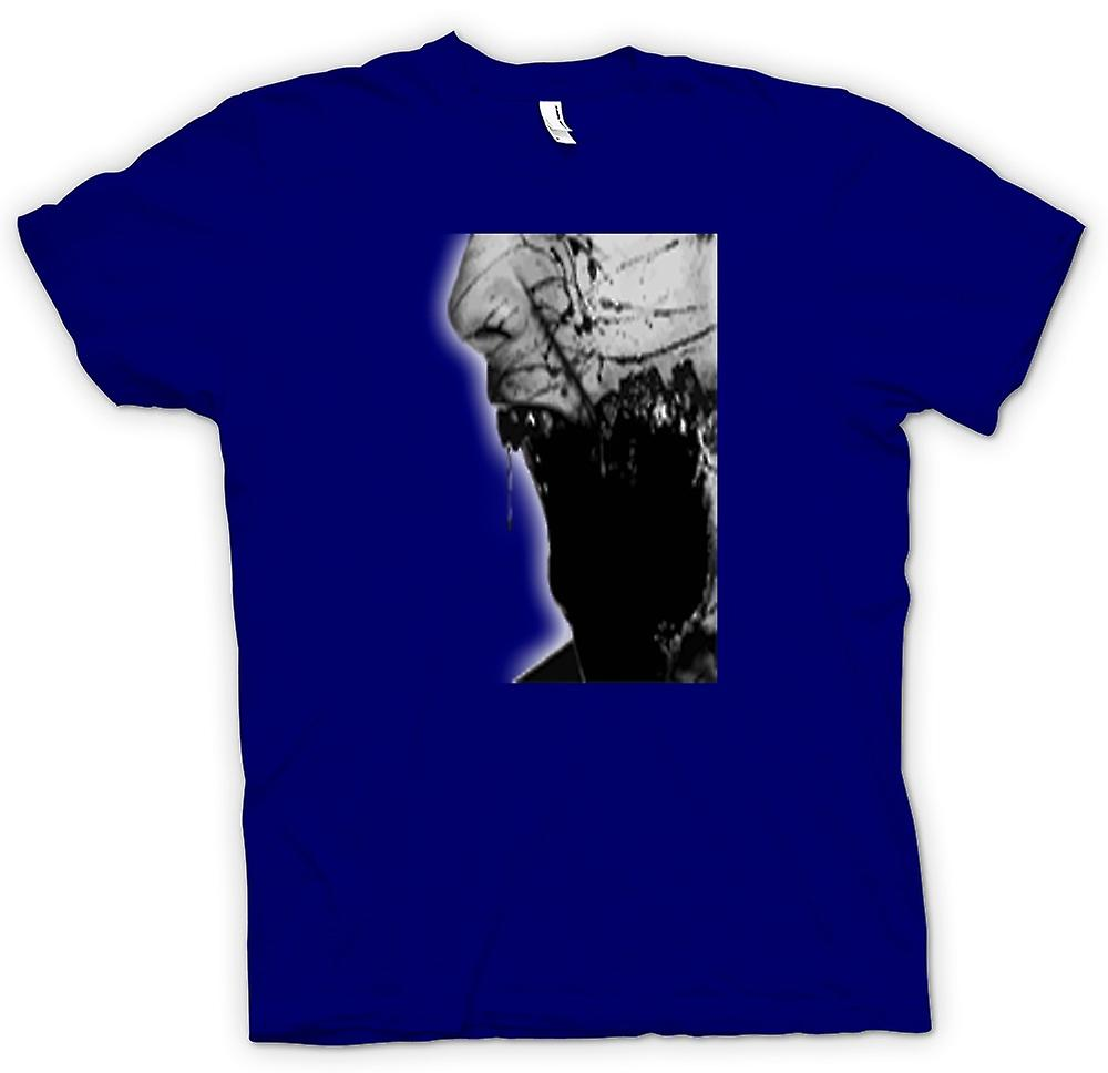 Hommes T-shirt - The Walking Portrait Morte Zombie visage