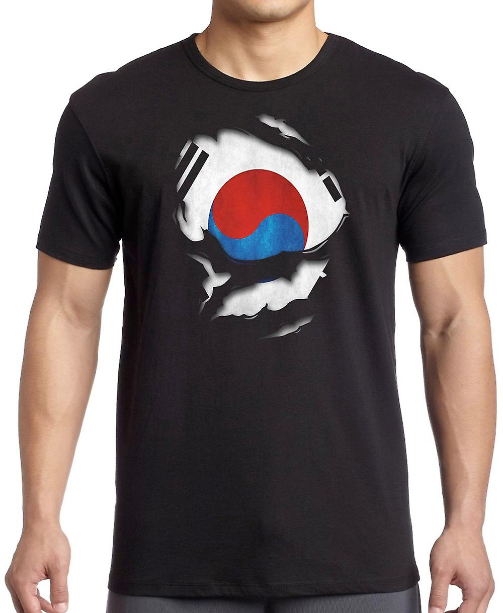 South Korea Ripped Effect Under Shirt Women T Shirt