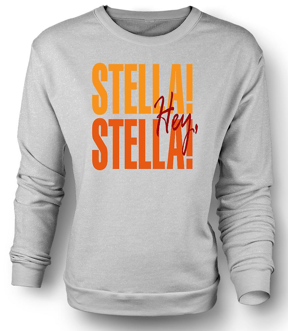 Mens Sweatshirt Steetcar namens Wunsch Stella - lustig