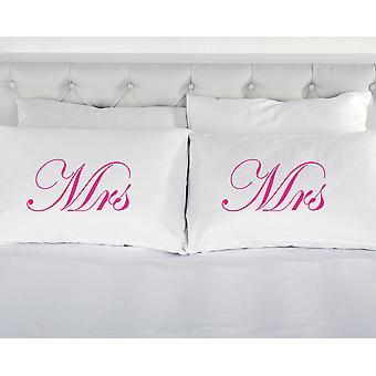 الأبيض مع السيدة الوردي ووسادات السيدة