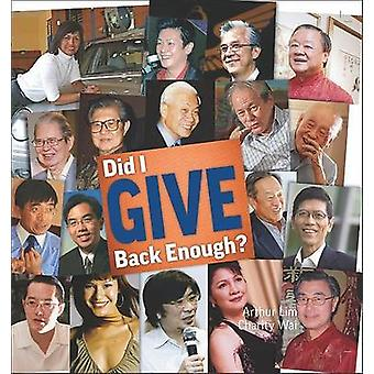 Gav jag nog tillbaka? av Arthur S.M. Lim - välgörenhet Wai - 9789814289