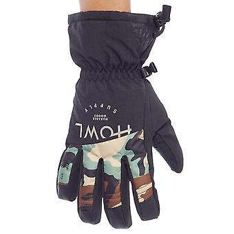 Howl Black Team Snowboarding Gloves