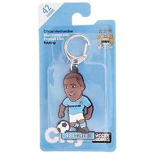 Manchester City Official Licensed Soccer Buddies Football Keyring - Yaya Touré