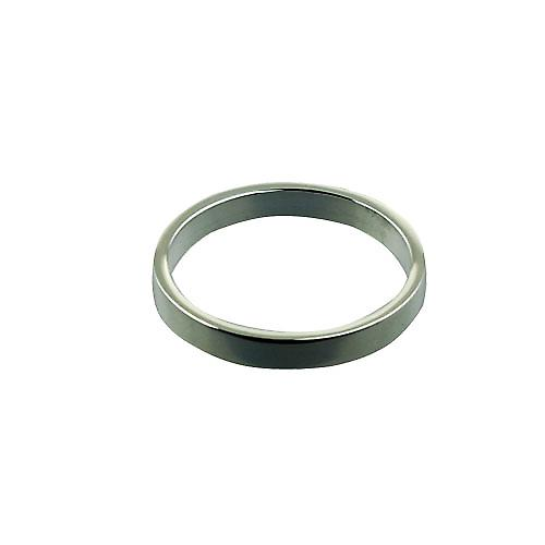9ct White Gold 3mm plain flat Wedding Ring Size X