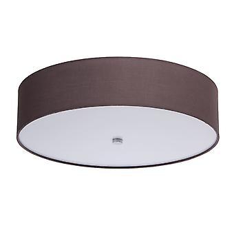 Glasberg - LED Flush Fitting mit grauen Schatten und weißem Diffusor 453011301