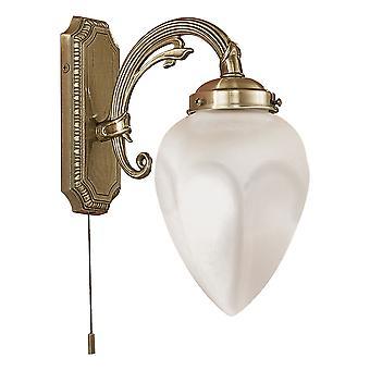 EGLO - Imperial 1 lampa traditionella väggen ljust inredda mässing finish växlat () EG82744