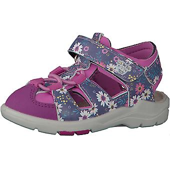 Ricosta Pepino Girls Gery Sandals Pink Blue Floral