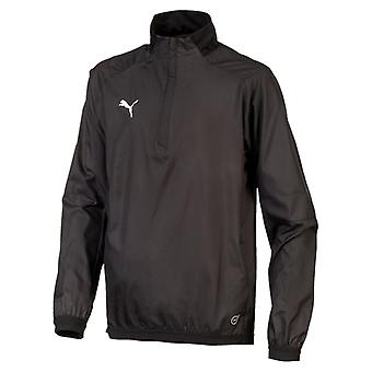 PUMA LIGA Training Windbreaker Jr Kinder Pullover Schwarz-Weiss