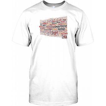 World Peace Word Cloud - Cool Design Mens T Shirt