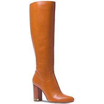 Michael Kors MK Women's knie hoog hoog leer Walker Boots Shoes Acorn