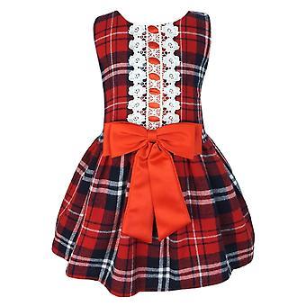 Baby девочки клетчатой Highland рукавов платье партии
