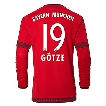 2015-16 Bayern Munich Long Sleeve Home Shirt (Gotze 19)