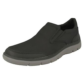 Mens Clarks Casual Slip On Trainers Tunsil Step