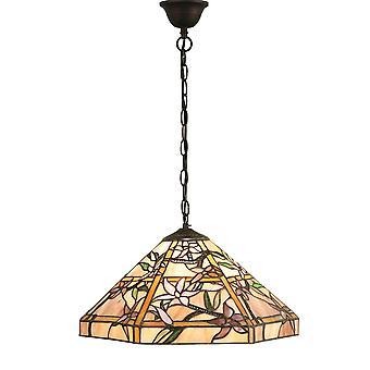 Clematis Medium Tiffany stil ett ljust tak hänge - interiör 1900 64020