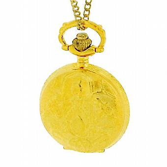 Philip Mercier Gents Gold Tone Pocket Watch On 28 Inch Chain NFP13A