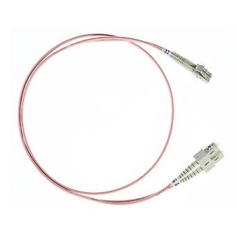 3M Lc Sc Om1 Multimode Fibre Optic Cable Salmon Pink