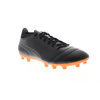 Puma One 17.4 FG 10407502 Mens Black Athletic Soccer Cleats Shoes