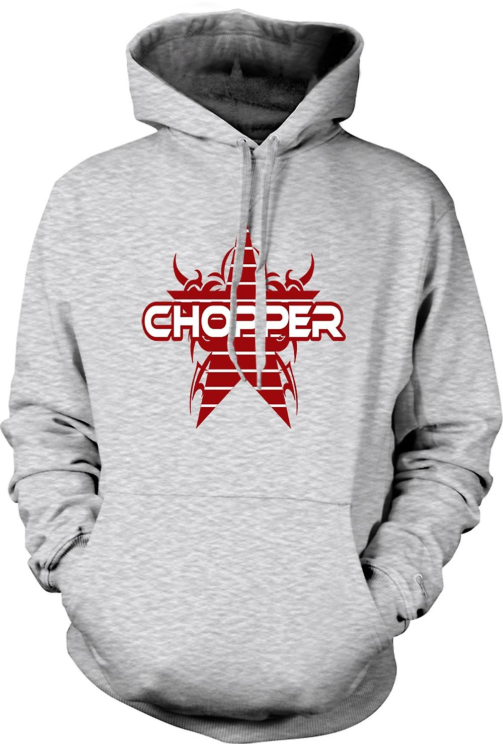 Mens Hoodie - Chopper Retro Bike - Drôle