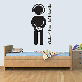 Customisable PERSONAL Computer Gamer Childrens Name Wall Art Decal Vinyl Stickers for Boys Girls Bedroom