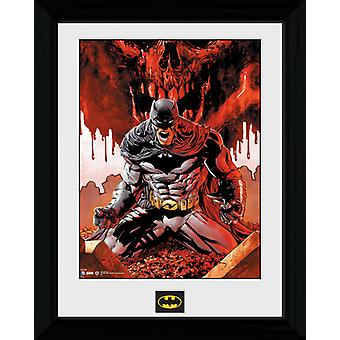 Batman Seeing Red Framed Collector Print 40x30cm