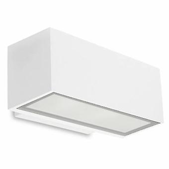 Lumière LED extérieure petite rondelle de mur haut/bas blanc clair Ip65