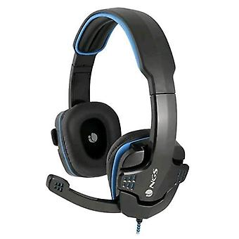 Ngs ghx-505 headphone with microphone color black blue