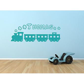 Personalised Train Smoke Name Wall Sticker Boys Bedroom Playroom Decal Birthday Gift