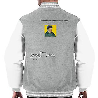 A.P.O.H Vincent van Gogh One Must Work And Dare Quote Men's Varsity Jacket