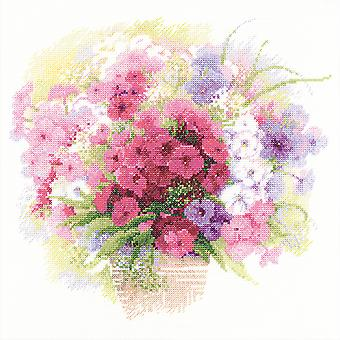 Phlox aquarelle compté point de croix Kit-11,75 « X11.75 » 14 barres R1069