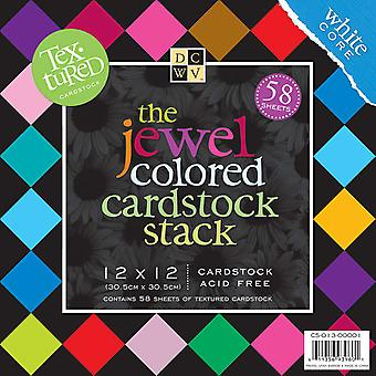 Textured Jewels Cardstock Stack 12