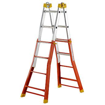 Gierre Telescoping ladder EN131 Mixed Peppina (4 + 4 Steps) (DIY , Construction , Stairs)