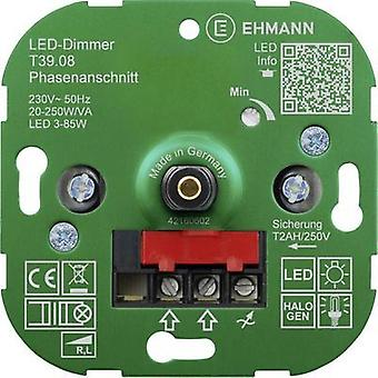 Flush-mount dimmer Suitable for light bulbs: Energy saving bulb, LED bulb, Halogen lamp, Light bulb Ehmann 3900x0800