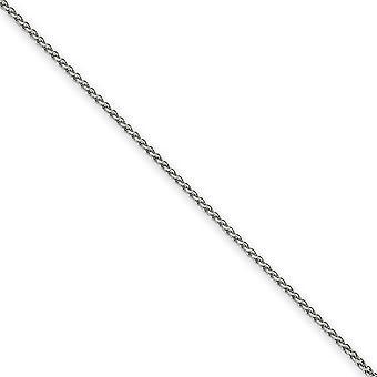 14k White Gold langosta garra cierre 1,65 mm sólido pulido Spiga pulsera - longitud: 6 a 8