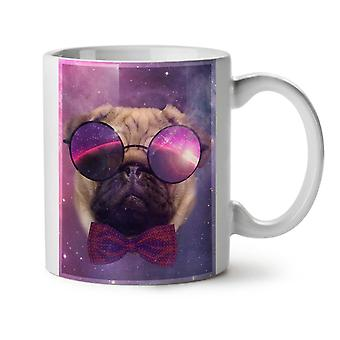Cosmic Glasses Pug Space Dream NEW White Tea Coffee Ceramic Mug 11 oz | Wellcoda
