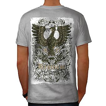 Original Requiem USA Monster Men Grey T-shirt Back | Wellcoda