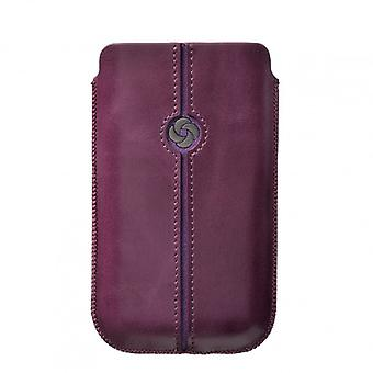SAMSONITE DEZIR Mobile borsa in pelle viola per tex S2