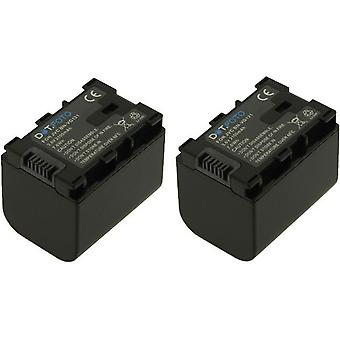 2 x Dot.Foto JVC BN-VG121 Replacement Battery - 3.6v / 2100mAh