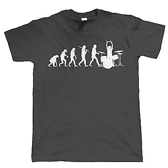 Vectorbomb, Evolution of a Drummer, Mens Funny Drumming Tshirt (S to 5XL)