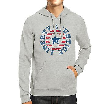 Liberty & rättvisa Unisex Graphic Hoodie gåva grå Crewneck tröja