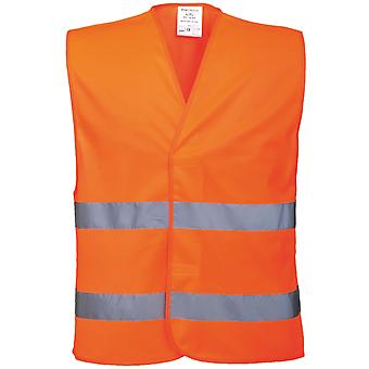 Portwest Unisex High Visibility Two Band Safety Work Vest